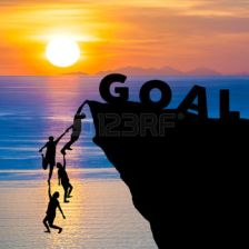50313786-silhouette-teamwork-of-people-climbs-into-cliff-to-reach-the-word-goal-with-sunrise-goal-setting-bus