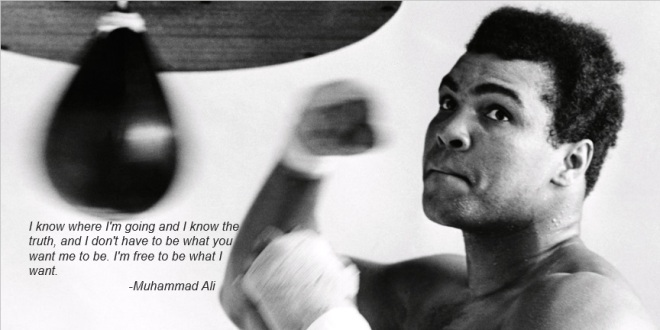 Muhammad Ali - I am Free Quote
